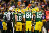 Carl Cheffers keeping warm (Green Bay Packers)