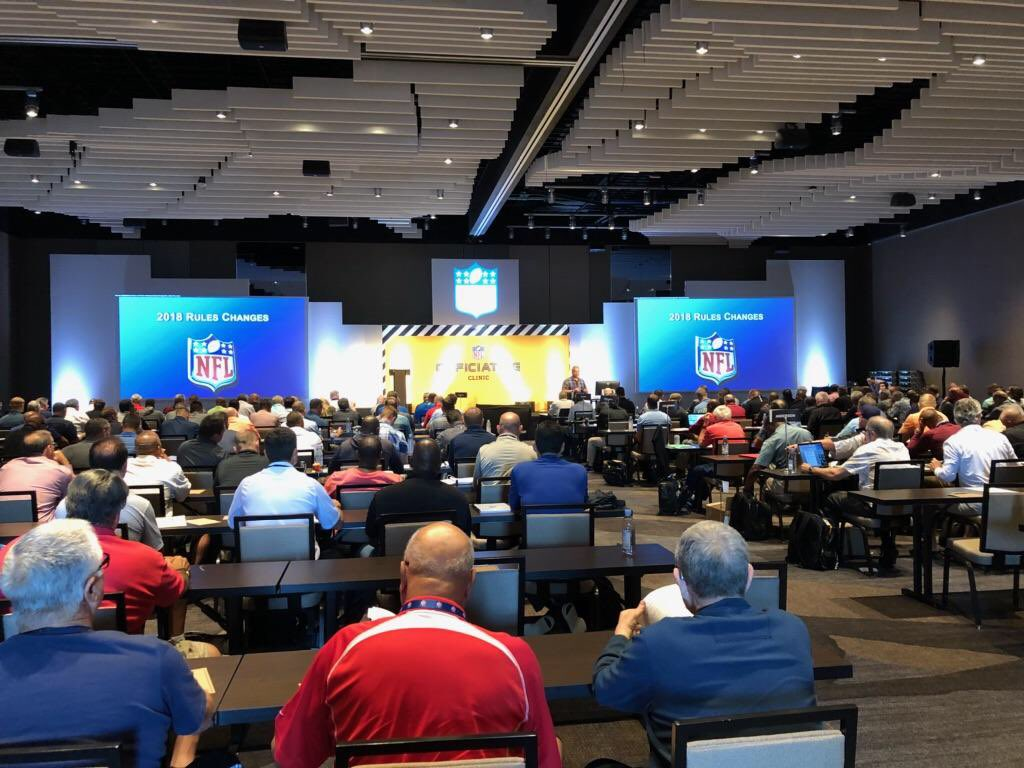 NFL officiating gets ready for the season at their first in-person clinic in 2 years