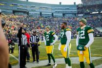 Walt Coleman tosses the coin (Green Bay Packers)