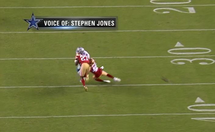 49ers safety Adrian Colbert is the first player ever ejected via replay for a live-ball hit