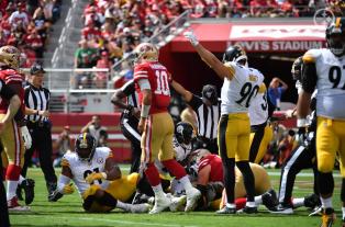 Scott Novak's crew crashes a pile up. (Pittsburgh Steelers)