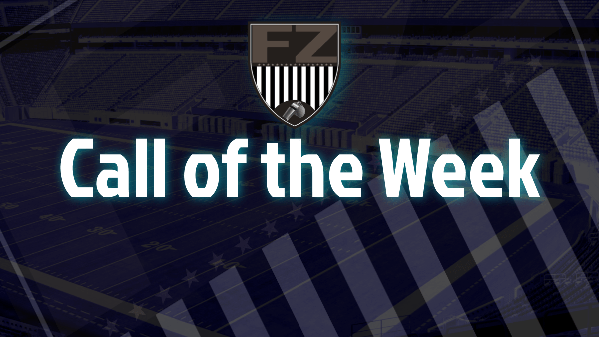 A downed punt very near the goal line is the Call of the Week