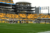 John Hussey Crew calls a socially distant game in Pittsburgh (Pittsburgh Steelers)