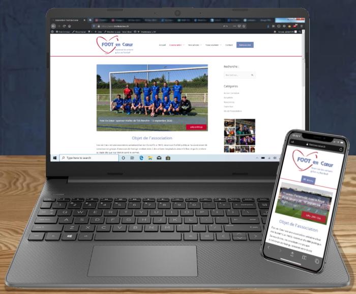 Nouveau site Web foot en coeur