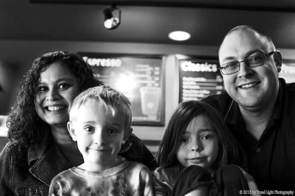 Summer 2012: Our family, at Peakview Coffee inside of Mission Hills Church. Photo credit: Cristopher Lucarini