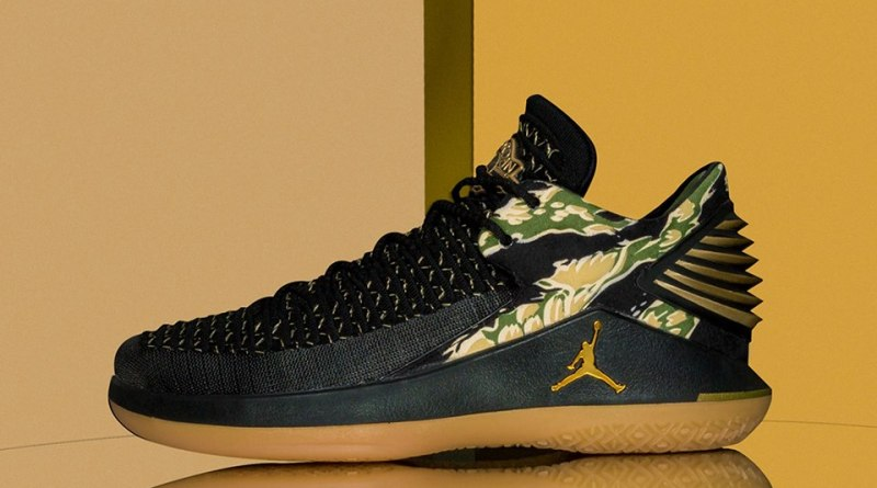 Air Jordan XXXII Low Tiger Camo 2