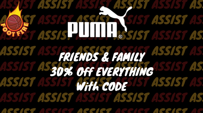 Friends And Family Puma 30% Sale