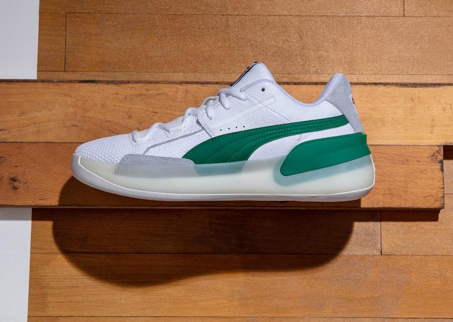 Puma Clyde Hardwood White Green 2   Foot Fire
