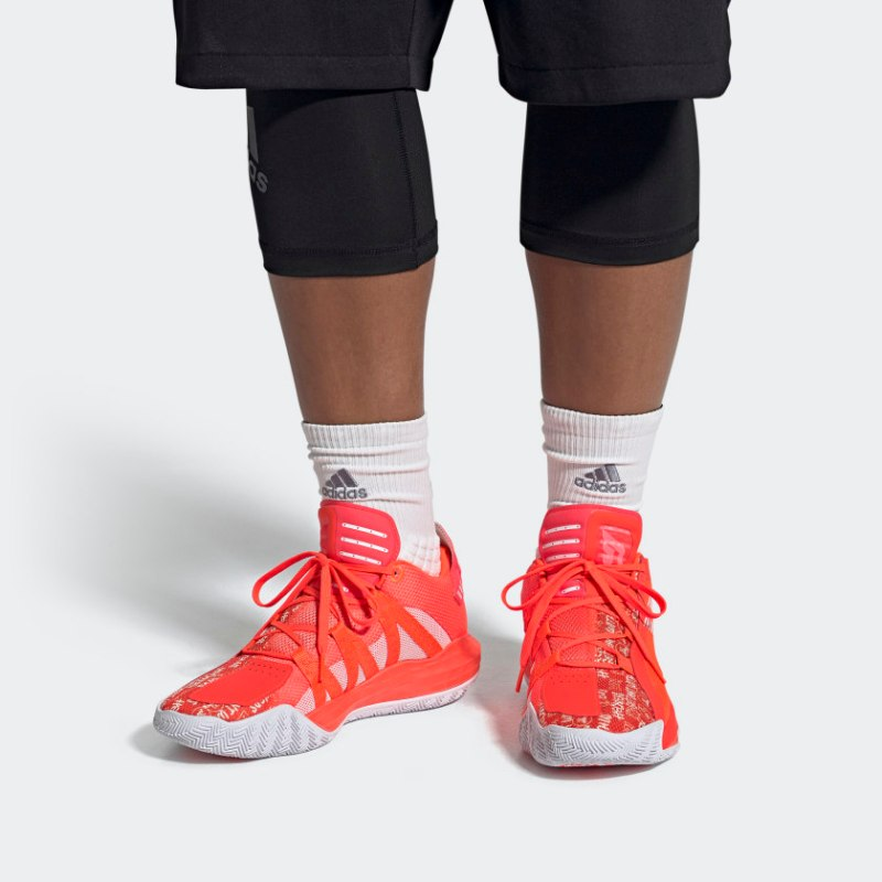Adidas Dame 6 Hecklers Pack FU6807 FU6808 Sale UK Solar Red