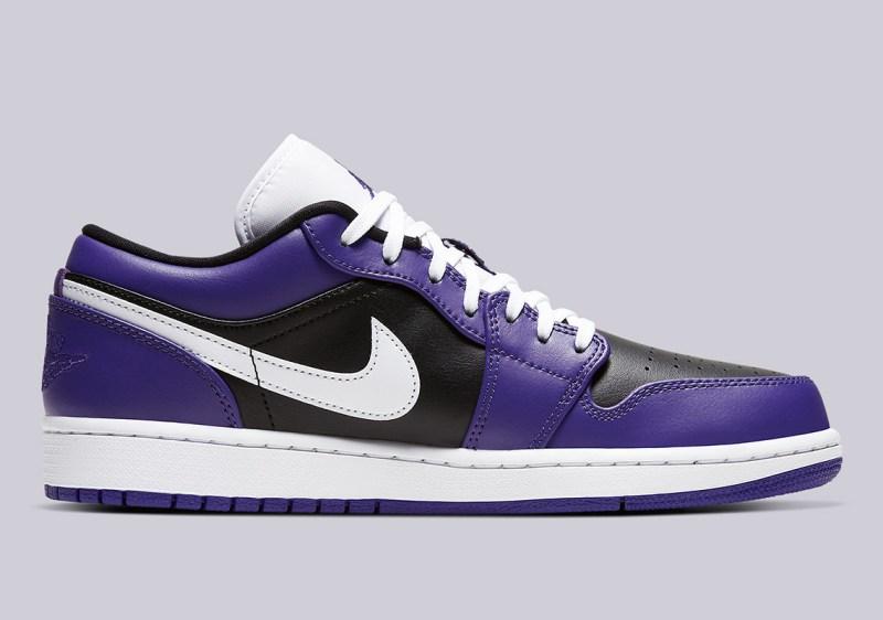 Air Jordan 1 Low Court Purple 553558-501 Release Info UK 3