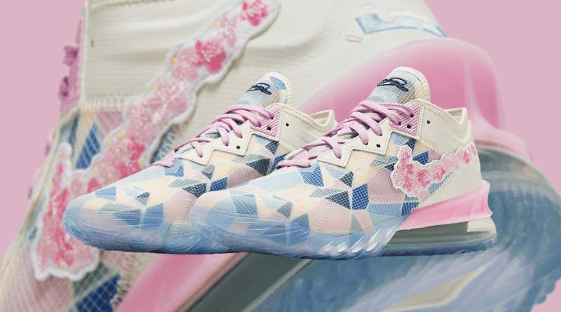 nike-lebron-18-low-x-atmos-cherry-blossom-cv7562-101-release-date Feature Image