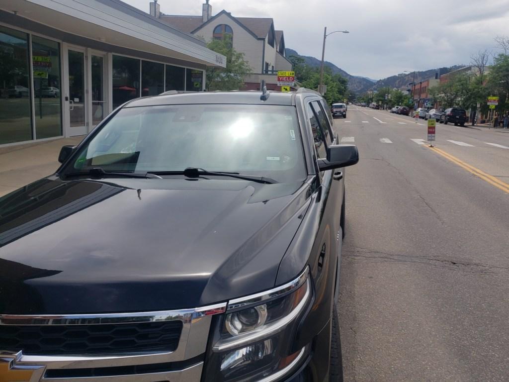 black SUV Boulder CO