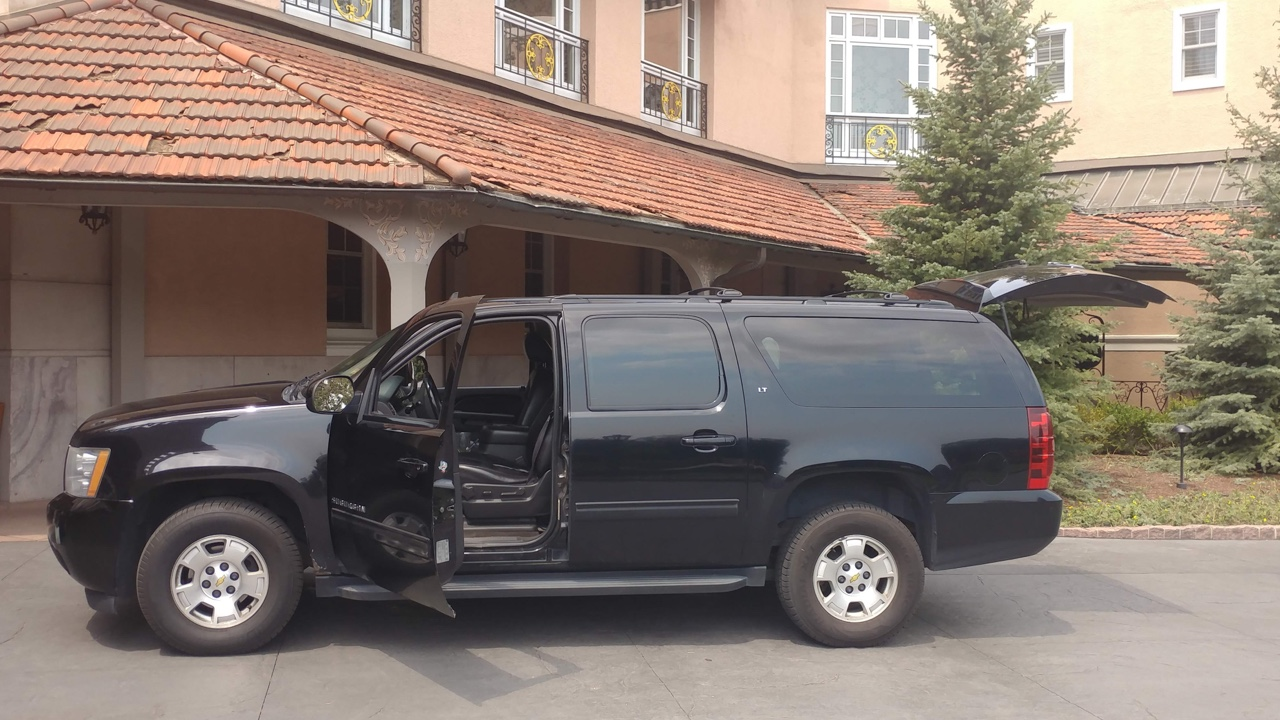 Black SUV Outside The Broadmoor Hotel
