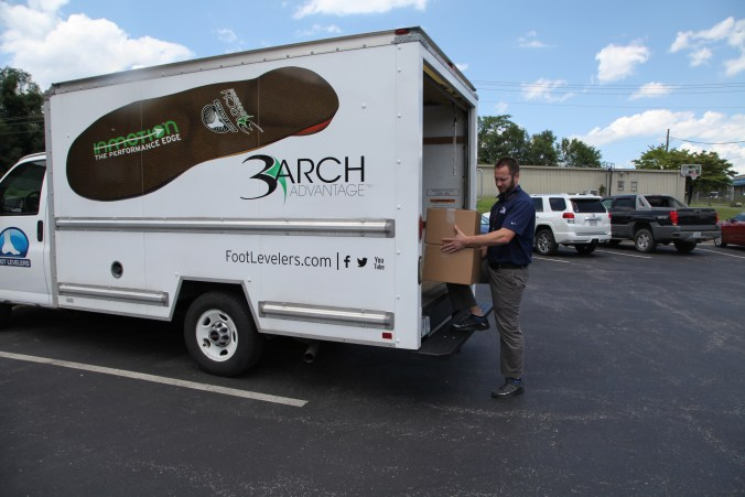 foot levelers donated 100 pairs shoes and pillows