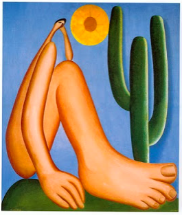 Tarsila de Amaral's Abaporu at the Museum of Latin American Art of Buenos Aires