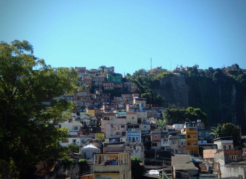 Favela in Rio de Janeiro when cargo theft is high