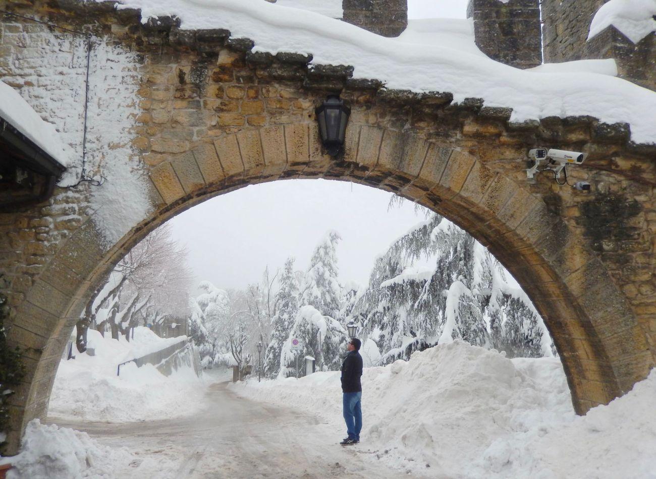 San Marino arch