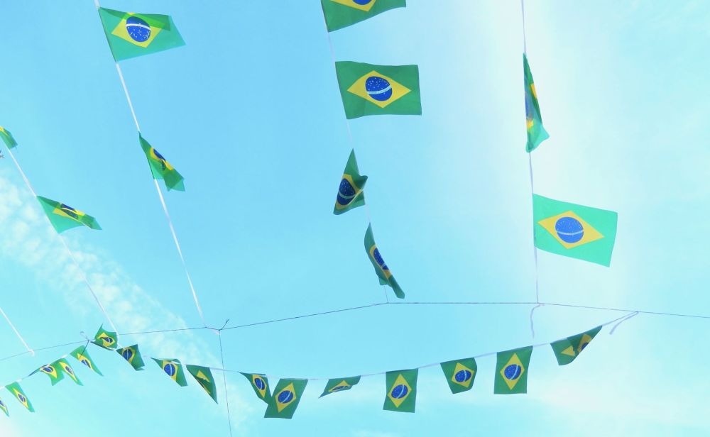 Brazilian flags