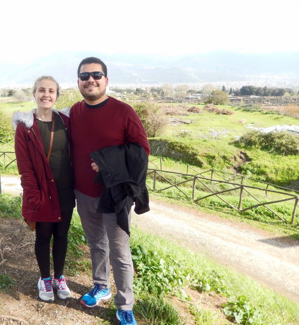 Henrique and Charlotte in Pompei