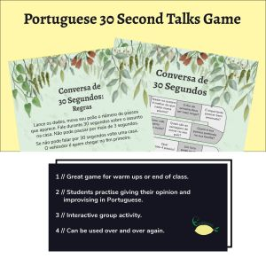 30 Second Portuguese Speaking game image