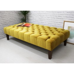 monaco deep buttoned one section stool