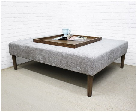 heritage large rectangular coffee table stool