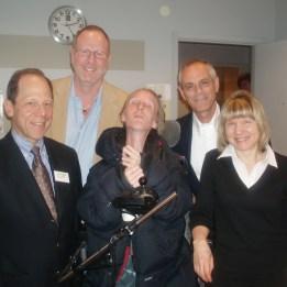 Drs Fred Kaplan, Burt Nussbaum, Zvi Grünwald & Elieen Shore med Ann-Sofi Klint