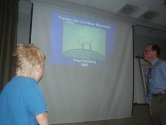 Dr Fred Kaplans föreläsning - Bilden som Hugo ritat.