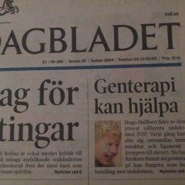 2004. Hugo i Svenska Dagbladet där blev han omdöpt till Hallbert och placerad i Västerås :) så kan det gå om man inte får korrläsa texten.