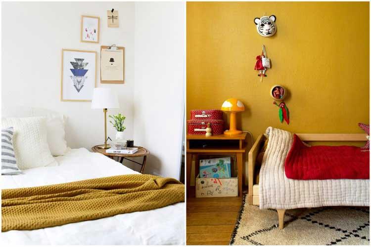Jaune moutarde  Adopter cette couleur pour un intrieur chaleureux