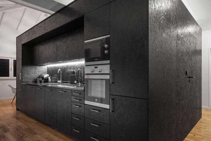 cuisine noir bois