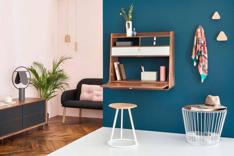 Bureau mural rabattable  8 modles pour petits espaces
