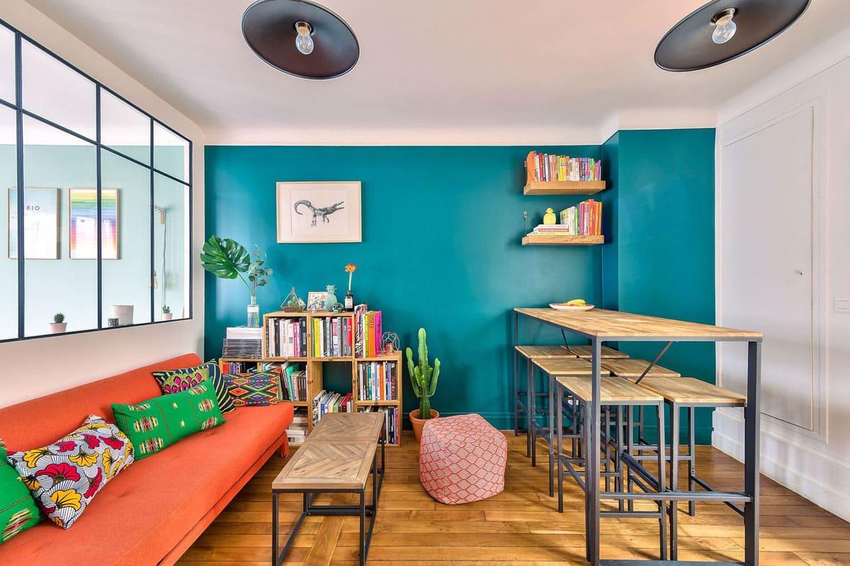 Bleu canard  Osez cette couleur dans votre dcoration intrieure