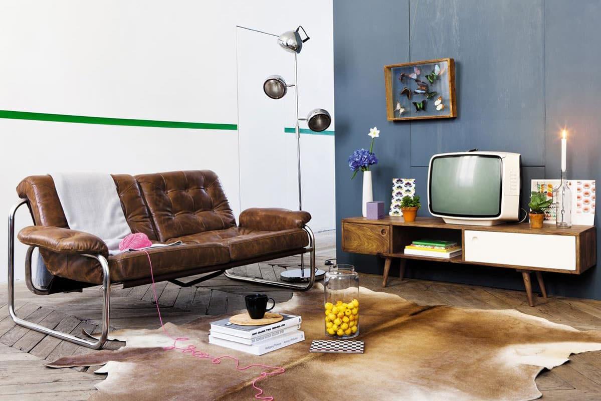 meuble tv vintage quel modele choisir pour un salon retro