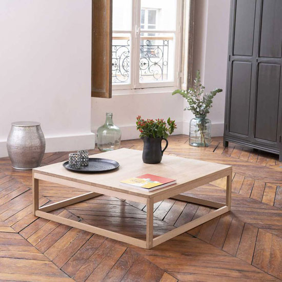 une table basse en bois l alliance du