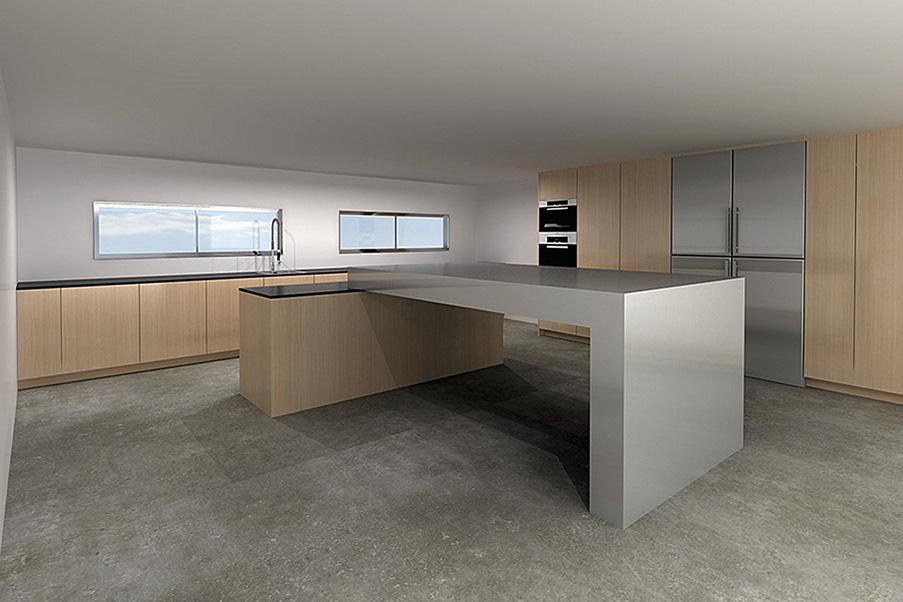 Ilot de cuisine contemporain design yohann baron for Ilot de cuisine design