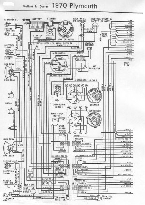 70 and 71 Valiant Duster Wiring Diagram | For A Bodies