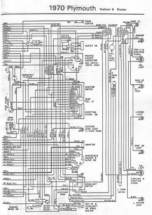 70 and 71 Valiant Duster Wiring Diagram | For A Bodies Only Mopar Forum