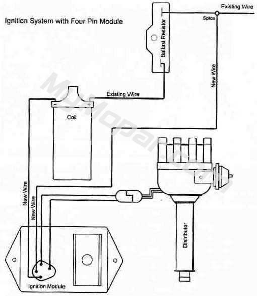 Coil Distributor Wiring Schematic