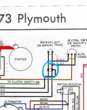 Neutral safety switch harness question specific to 1974 | For A Bodies Only Mopar Forum