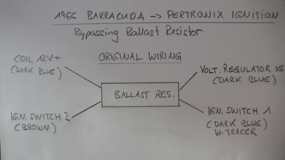 medium resolution of bypassing ballast resistor installing pertronix ignition for a l1130574 jpg pertronix ignitor ii wiring diagram