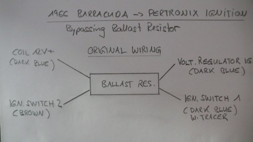 small resolution of bypassing ballast resistor installing pertronix ignition for a l1130574 jpg pertronix ignitor ii wiring diagram