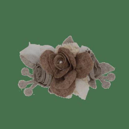 Coccarda fiore marrone
