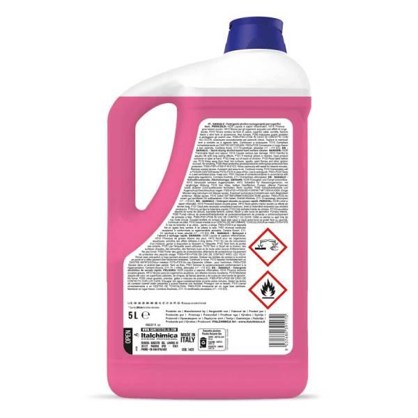 detergente pavimenti con alcool dal profumo floreale h.a.c.c.p in tanica da 5 lt sanialc codice 1425
