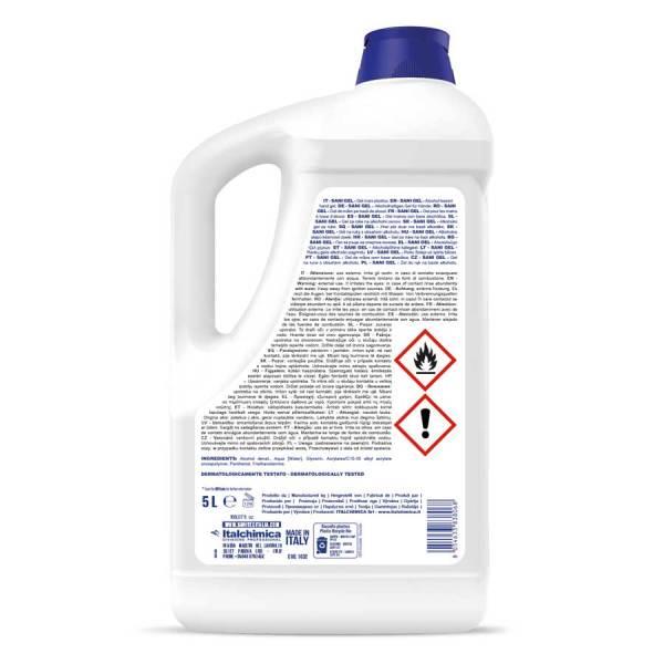 gel igienizzante per mani in tanica da 5 kg codice 1032