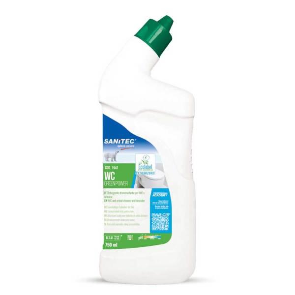 sanitec detergente disincrostante IN gel per wc ecologico ecolabel in flacone da 750 ml wc green power codice 1941