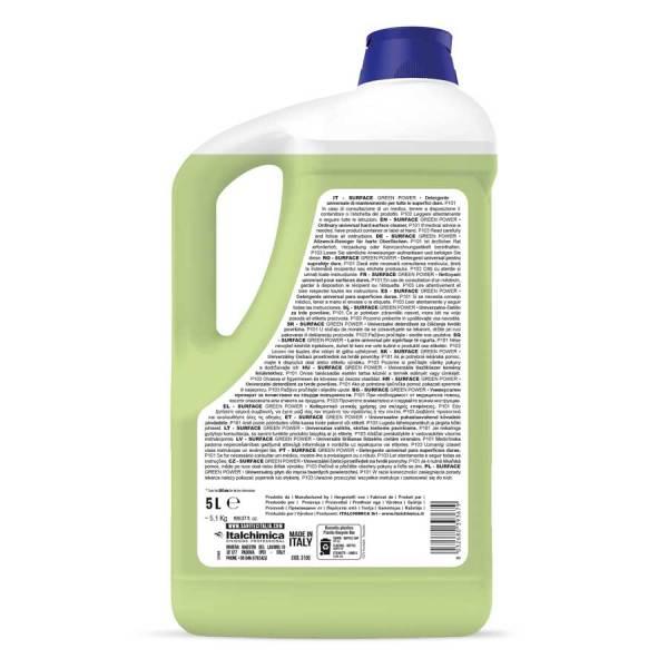 sanitec detergente universale per pavimenti ecologico in tanica da 5 lt surface green power codice 3105