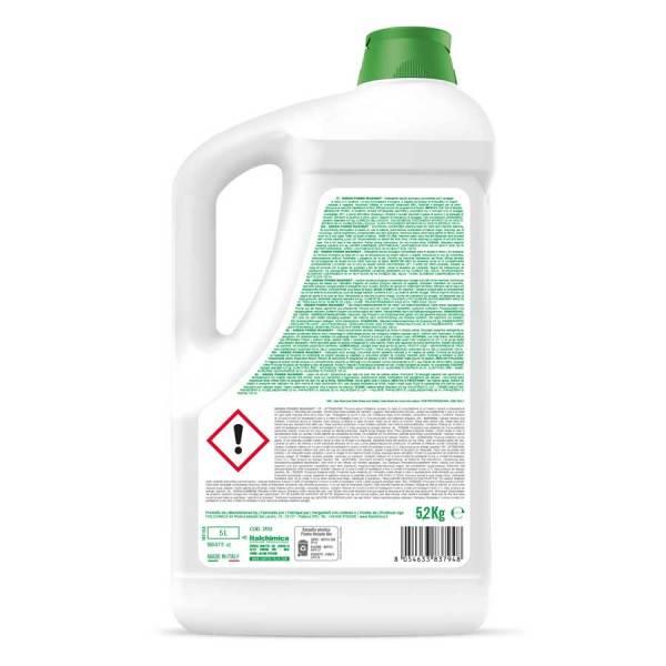 sanitec lavatrice ecologico liquido per bianchi e colorati in tanica da 5 lt washdet green power codice 3112