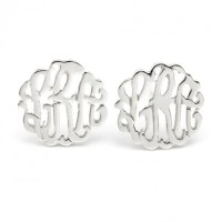 Sterling Silver Monogram Earrings | ForAllGifts