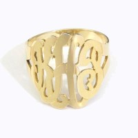 14K Gold Vermeil Monogram Ring